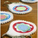 Schlüsselanhänger mit Blumen